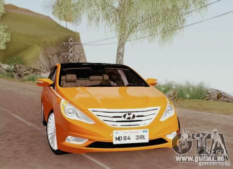 Hyundai Sonata 2012 für GTA San Andreas Innen