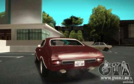 Chevrolet Chevelle SS für GTA San Andreas Innenansicht