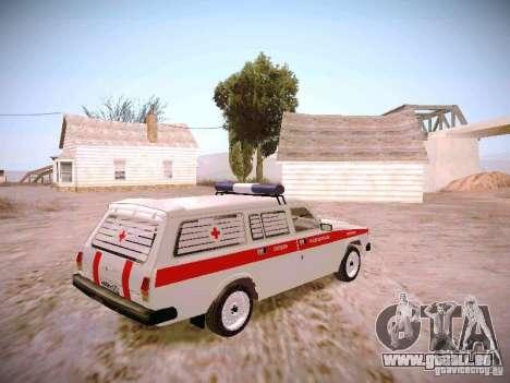 GAZ 310231 Urgent pour GTA San Andreas sur la vue arrière gauche