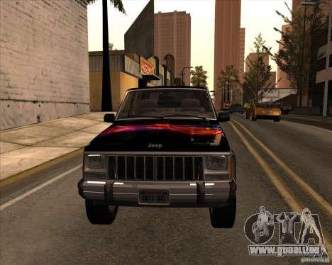 Jeep Cherokee für GTA San Andreas Innenansicht