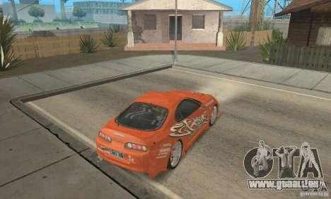 Toyota Supra Tunable 2 pour GTA San Andreas moteur