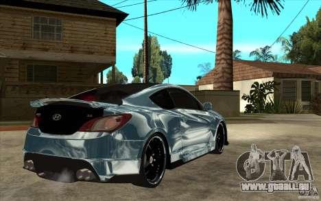 Hyundai Genesis Tuning pour GTA San Andreas vue de droite