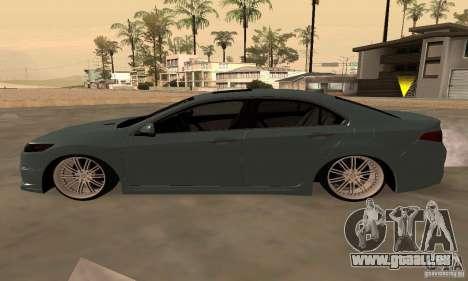 Acura TSX 2010 für GTA San Andreas Rückansicht