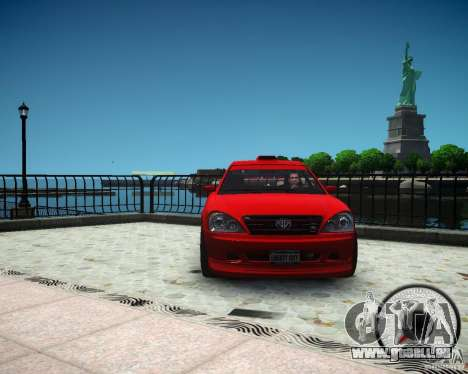 Schafter RS pour GTA 4 Vue arrière