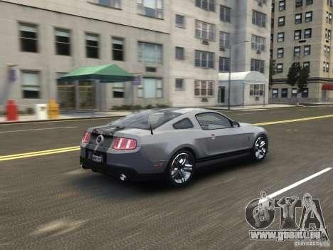 Shelby GT500 2010 pour GTA 4 Vue arrière