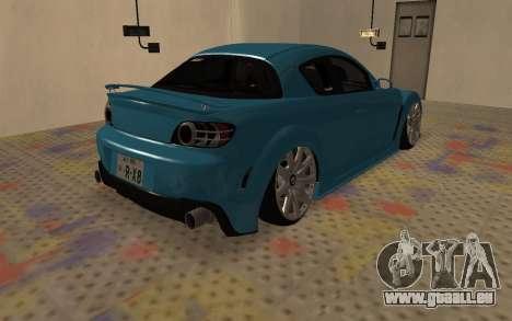 Mazda RX8 VIP für GTA San Andreas rechten Ansicht
