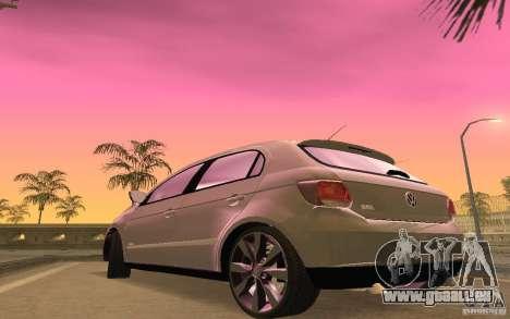 Volkswagen Gol G6 pour GTA San Andreas vue intérieure