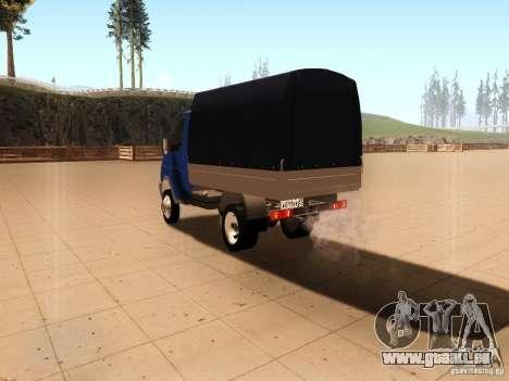 3302 Gazelle pour GTA San Andreas sur la vue arrière gauche