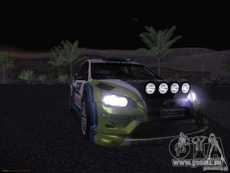 Ford Focus RS WRC 2006 pour GTA San Andreas vue de dessous