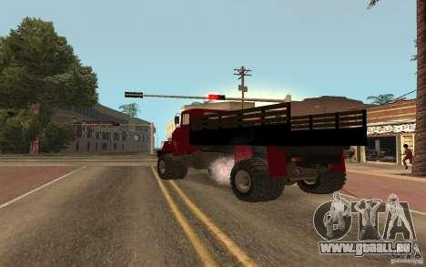 KrAZ-5131 für GTA San Andreas zurück linke Ansicht