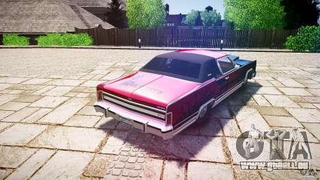 Lincoln Continental Town Coupe v1.0 1979 [EPM] pour GTA 4 vue de dessus