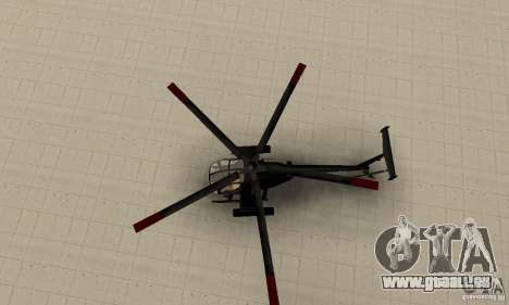 AH-6C Little Bird pour GTA San Andreas vue de droite