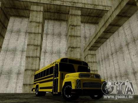 International Harvester B-Series 1959 School Bus für GTA San Andreas zurück linke Ansicht