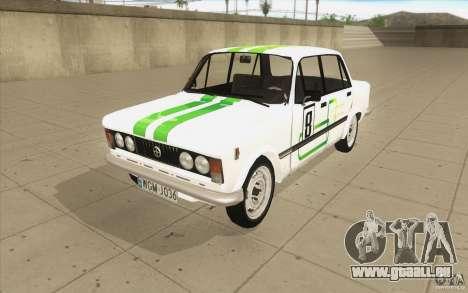Fiat 125p pour GTA San Andreas vue de dessous