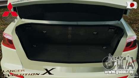 Mitsubishi Lancer Evolution X 2007 pour GTA 4 vue de dessus