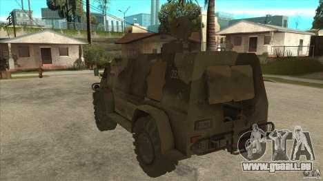GAZ 39371 Vodnik pour GTA San Andreas sur la vue arrière gauche