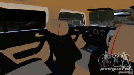 Hummer H3 2005 Gold Final pour GTA 4 Vue arrière