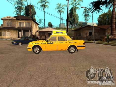 Volga GAZ-31105 Taxi pour GTA San Andreas laissé vue