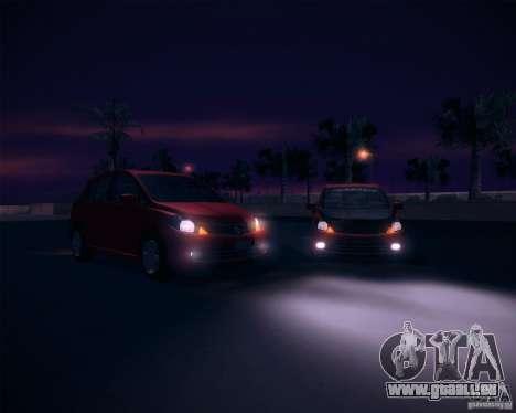 Nissan Versa Stock pour GTA San Andreas vue de droite