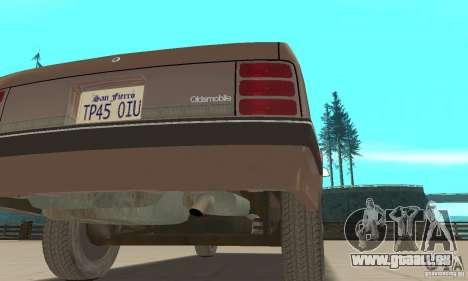 Oldsmobile Cutlass Ciera 1993 pour GTA San Andreas vue de dessus