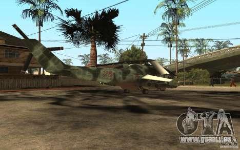 MI-24 A pour GTA San Andreas sur la vue arrière gauche