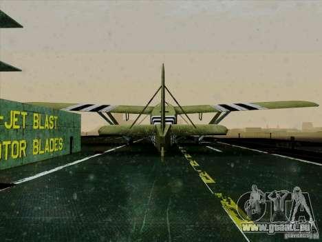 Avion du jeu derrière l'ennemi lignes 2 pour GTA San Andreas vue arrière