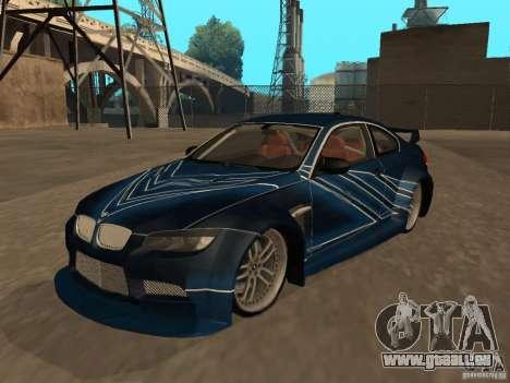 BMW M3 E92 Tunable für GTA San Andreas Innen
