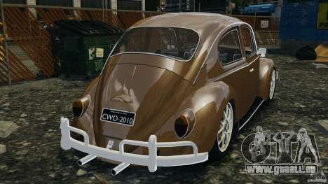 Volkswagen Fusca Gran Luxo v2.0 pour GTA 4 Vue arrière de la gauche