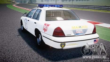 Ford Crown Victoria US Marshal [ELS] pour GTA 4 Vue arrière de la gauche