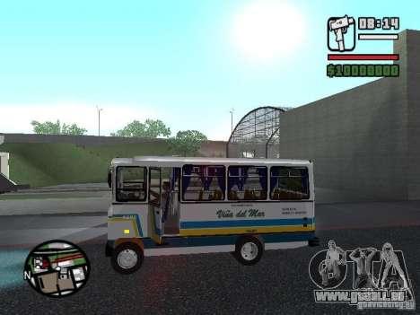 Cuatro Ases M.Benz LO608D pour GTA San Andreas laissé vue
