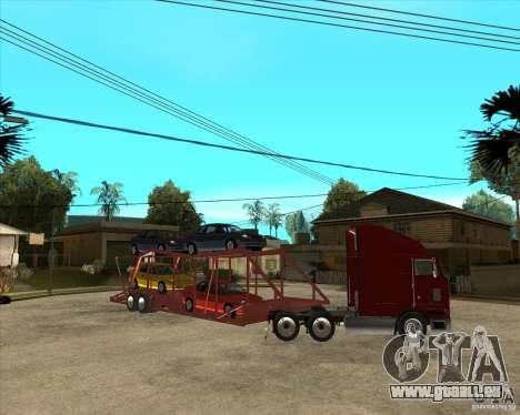 Auflieger-LKW für GTA San Andreas obere Ansicht