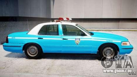 Ford Crown Victoria Classic Blue NYPD Scheme pour GTA 4 Vue arrière de la gauche