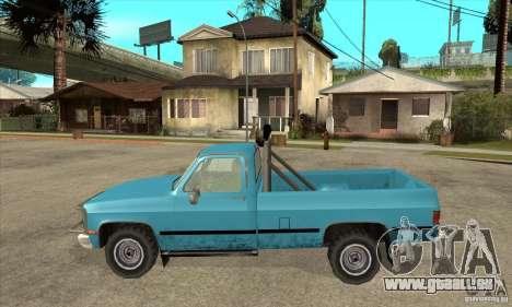 GMC Sierra 2500 pour GTA San Andreas laissé vue
