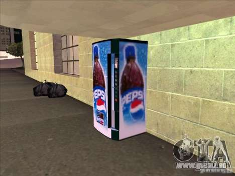 Distributeurs automatiques de PEPSI pour GTA San Andreas deuxième écran