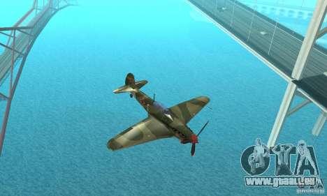 Yak-9 pendant la seconde guerre mondiale pour GTA San Andreas vue intérieure