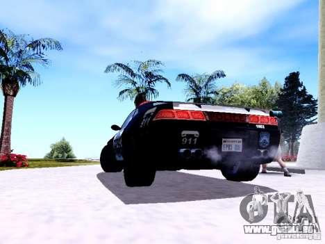 NFS Undercover Cop Car MUS pour GTA San Andreas vue de droite
