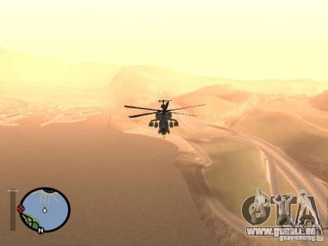 MI 28 Havok pour GTA San Andreas vue de droite