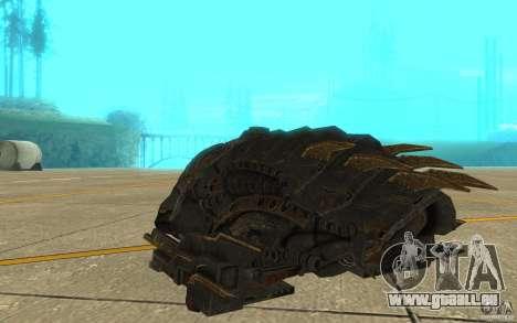 Starship Predator von die Spiel Aliens Vs Predat für GTA San Andreas rechten Ansicht