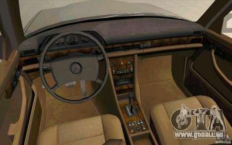 Mercedes Benz 560SEL w126 1990 v1.0 für GTA San Andreas Rückansicht