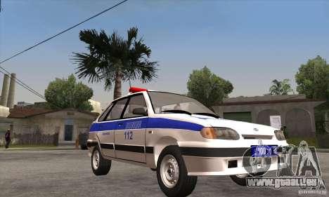 ВАЗ 2114-Polizei für GTA San Andreas Rückansicht