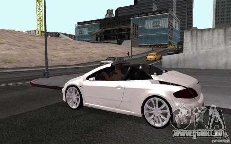 Peugeot 307CC BMS pour GTA San Andreas vue de dessus