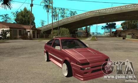 Toyota Corolla AE86 tuned pour GTA San Andreas vue arrière