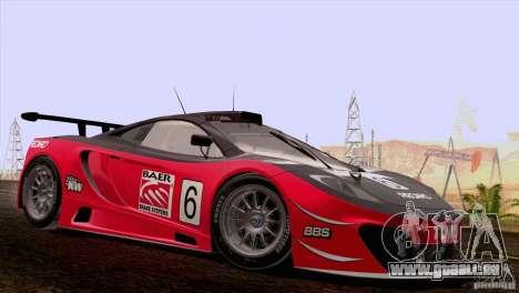 McLaren MP4-12C Speedhunters Edition pour GTA San Andreas vue de côté