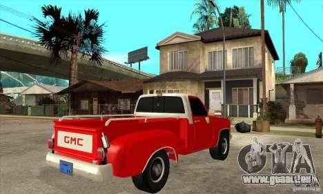 GMC 454 PICKUP für GTA San Andreas rechten Ansicht