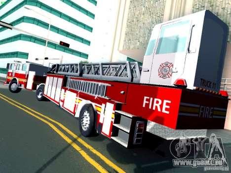 Seagrave Tiller Truck für GTA San Andreas rechten Ansicht