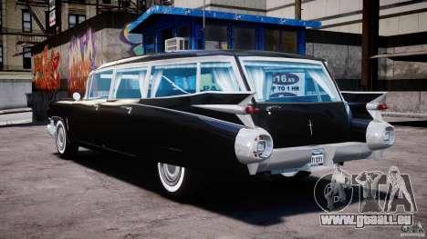 Cadillac Miller-Meteor Hearse 1959 pour GTA 4 Vue arrière de la gauche