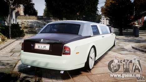 Rolls Royce Phantom Sapphire Limousine Disco pour GTA 4 Vue arrière de la gauche