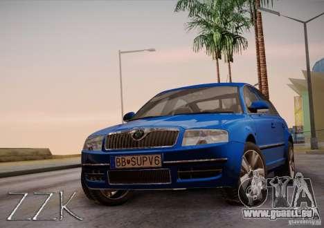 Skoda Superb 2006 pour GTA San Andreas sur la vue arrière gauche