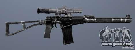 Comme fusil d'assaut de Val pour GTA San Andreas sixième écran