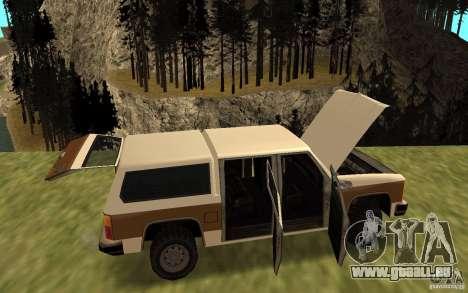 Eine zivile FBI Rancher für GTA San Andreas rechten Ansicht